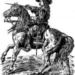 Oliver Cromwell on horseback