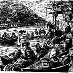 Londoners flee the great fire